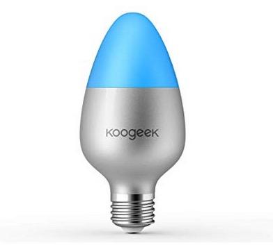 Koogeek WiFi Smart-LED-Glühbirne Multicolor E27 für z.B. Apple HomeKit nur 19,99 Euro