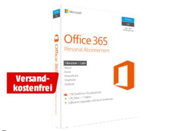 Microsoft Office 365 Personal Abonnement (1 Jahr / 1 Benutzer) für nur 33,- Euro inkl. Versand