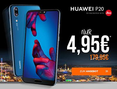 otelo Allnet-Flat Classic mit 4GB Daten für mtl. 24,99 Euro + Huawei P20 für nur einmalig 4,95 Euro