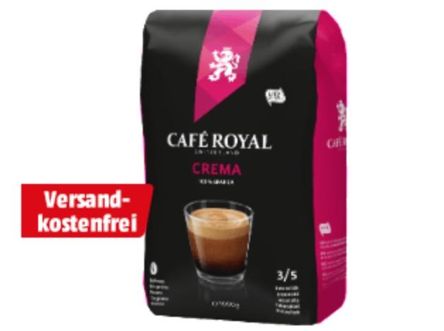 CAFE ROYAL Crema 1kg Kaffeebohnen für nur 7,77 Euro inkl. Versand