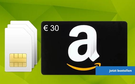 Knaller! 3 SIM-Karten des 8-Cent Tarif von freenetmobile im Bundle bestellen und dazu gratis 30,- Euro Amazon Gutschein erhalten (Alternative Hardwarezugaben möglich)