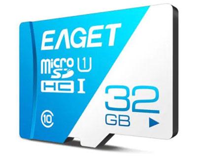 Eaget T1 Class10 MicroSD-Karte mit 32GB Speicher nur 3,28 Euro inkl. Versand
