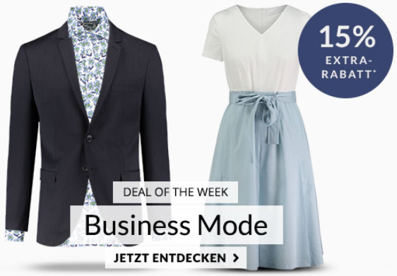 Engelhorn Mode Weekly Deal mit 15% Extra-Rabatt auf Business Mode