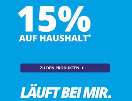 15% Rabatt auf die Kategorie Haushalt im MEDION Onlineshop + kostenloser Versand