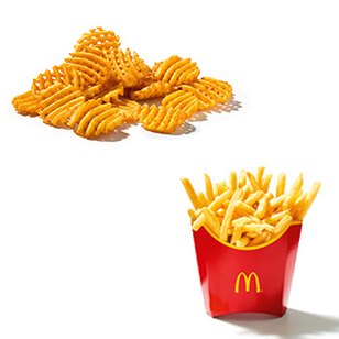22. Oktober: 2 x Pommes oder 2 x Gitterkartoffeln für 2,99 Euro