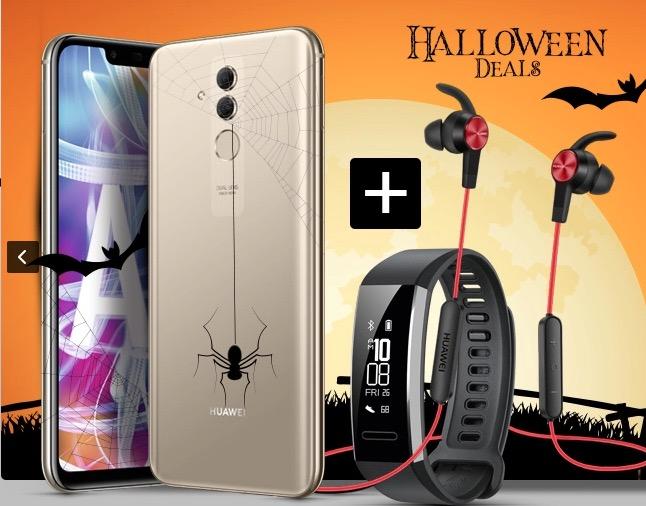 Otelo Halloween Special mit 5GB Datenvolumen + HUAWEI Mate 20 Lite, Sportkopfhörer und Huawei Band 2 Pro für mtl. 24,05 Euro