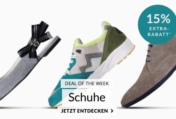 Engelhorn Fashion Weekly Deal mit 15% Rabatt auf Schuhe