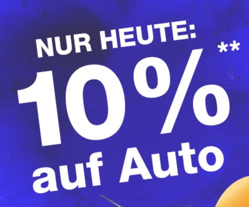 Nur heute: 10% Rabatt auf die Kategorie Auto im Plus Onlineshop