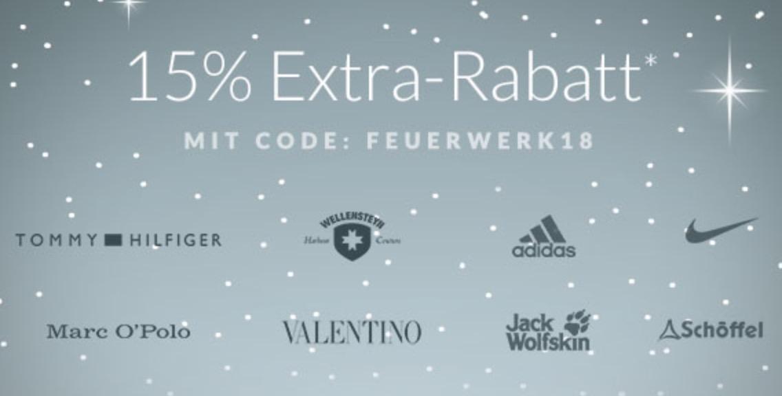 Nur noch heute! 15% Extra-Rabatt auf Marken wie Tommy Hilfiger, Nike, Adidas und Marc O'Polo bei Engelhorn