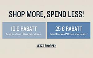 Bis zu 25,- Euro Rabatt auf Hosen und Jeans im Tom Tailor Onlinestore