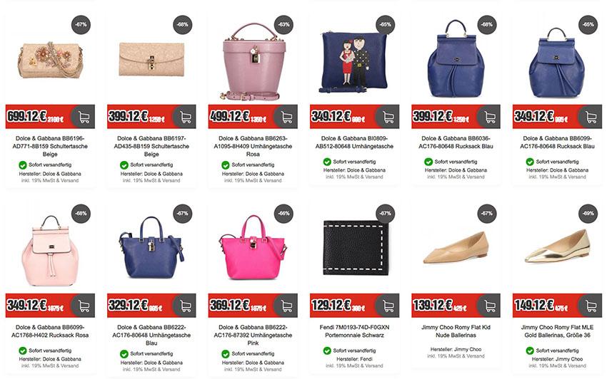 c572c3f1b3b8e6 Luxusmarken-Sale bei Top12 mit bis zu 81% Rabatt – z.B. Prada