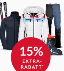 Engelhorn Weekly-Deal Sport: 15% Rabatt auf Wintersport Artikel
