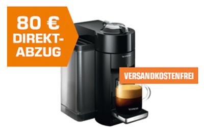 DELONGHI Nespresso Vertuo ENV135.B Kapselmaschine für nur 89,99 Euro