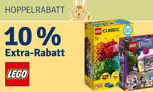 10% Rabatt auf alle LEGO Artikel ab 29,- Euro Bestellwert im MyToys Onlineshop
