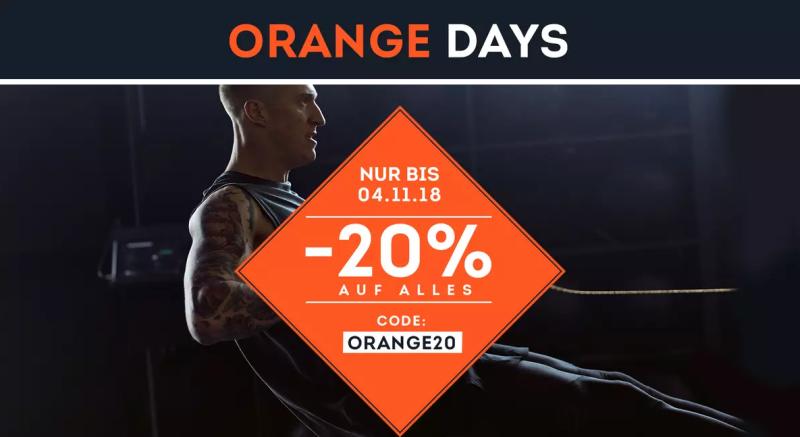 Letzter Tag! Orange Days bei SportScheck mit 20% Rabatt auf