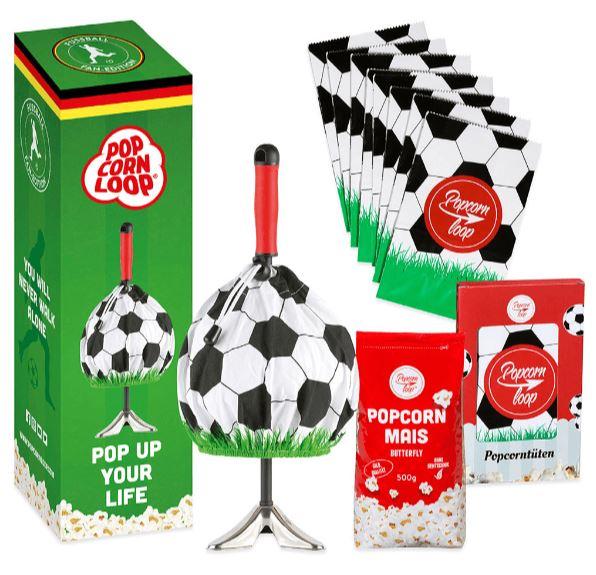 POPCORNLOOP Fussball-Set Fan-Edition Popcornmaker für nur 19,99 Euro inkl. Versand