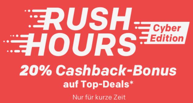 Rakuten Rush Hour mit 20% Cashback in Superpunkten auf verschiedene Top-Deals