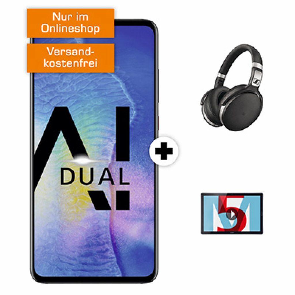 MD Telekom Flat + HUAWEI Mate 20 + Sennheiser Kopfhörer + Huawei MediaPad M5