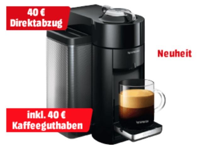 DELONGHI Nespresso Vertuo ENV135.B Kapselmaschine für nur 159,- Euro + 40,- Euro Kaffeeguthaben