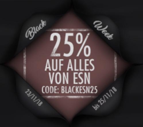 Fitmart Black Week: 25% Rabatt auf alle ESN Produkte