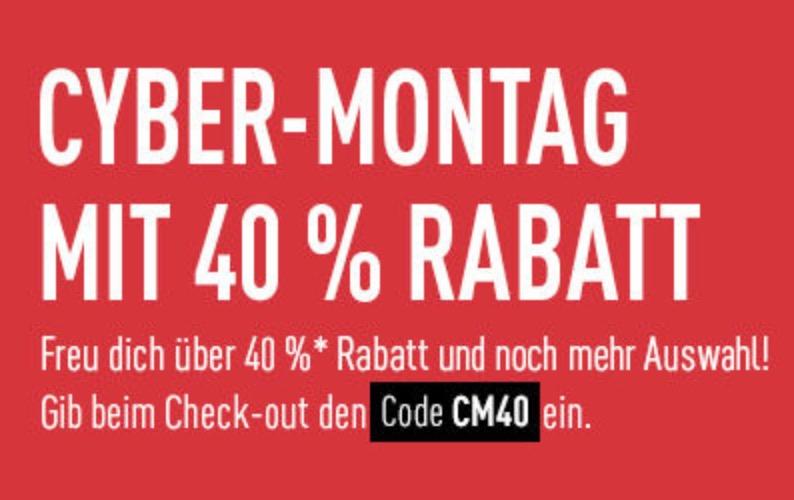 Reebok Cyber Monday mit 40% Rabatt auf nicht reduzierte Artikel