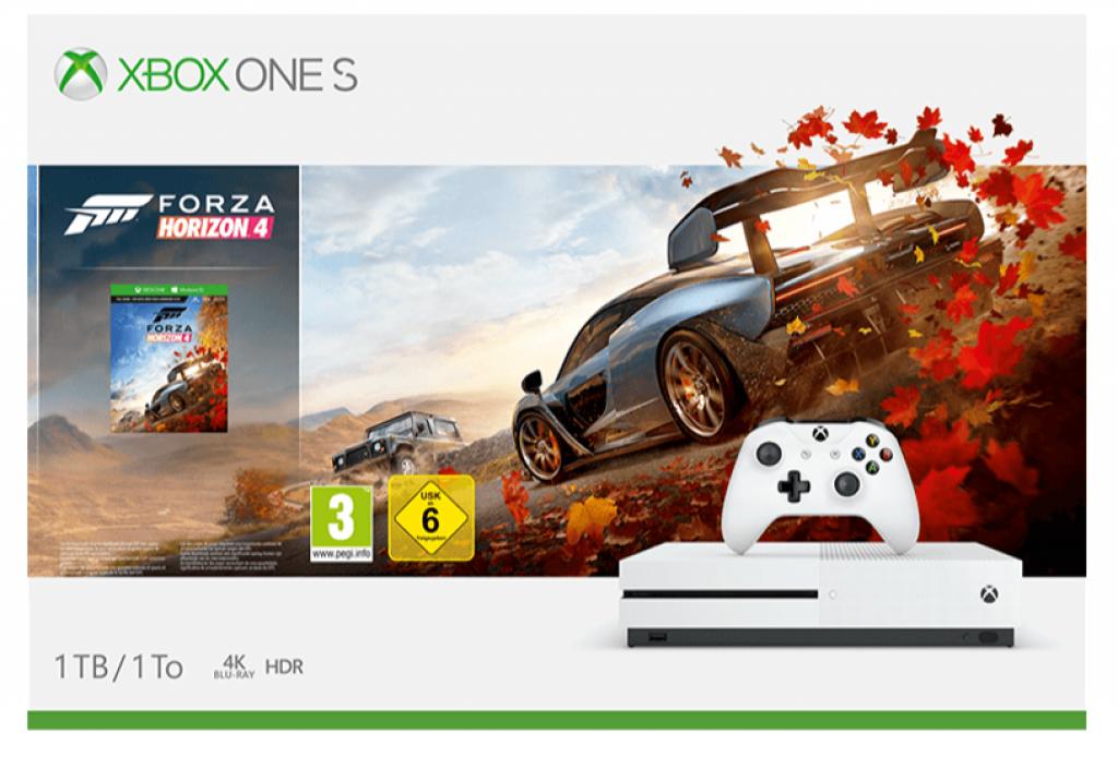 MICROSOFT Xbox One S 1TB Konsole Forza Horizon 4 Bundle