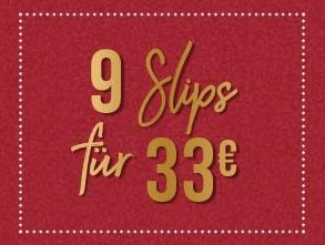 9 Slips für nur 33,- Euro im Hunkemöller Onlineshop bei Filiallieferung
