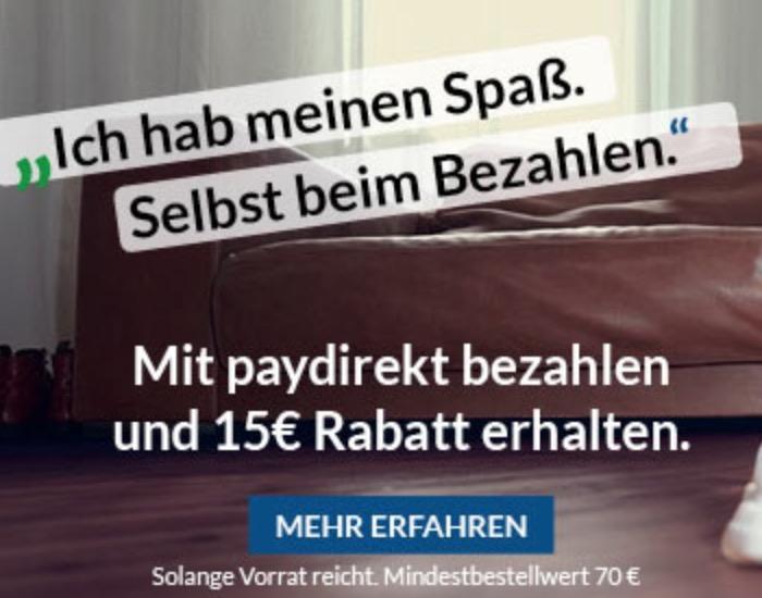 Letzter Tag! 15,- Euro Paydirekt Gutschein ab 70,- Euro Bestellwert bei Alternate