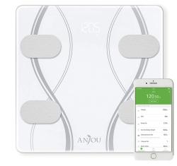 Anjou Körperfettwaage mit Bluetooth und App für iOS und Android nur 18,99 Euro statt 29,99 Euro