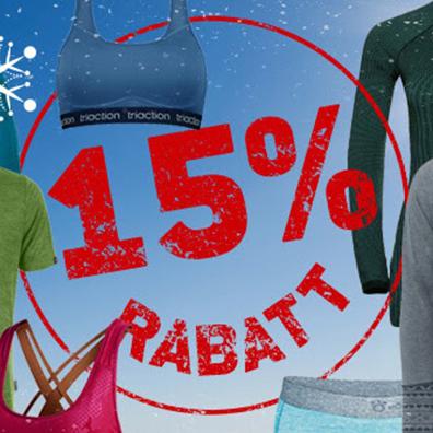 15% Rabatt auf Funktionswäsche im Berfreunde Onlineshop