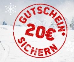 20,- Euro Bergfreunde Gutschein ab 100,- Euro Bestellwert