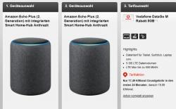 Vodafone Data Go M 5GB LTE Flat mit 2 x Amazon Echo Plus (2. Generation) für nur 17,49 Euro mtl. + einmalig 4,95 Euro