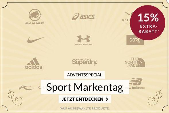15% Rabatt auf ausgewählte Top Marken im Engelhorn Sport Online-Shop
