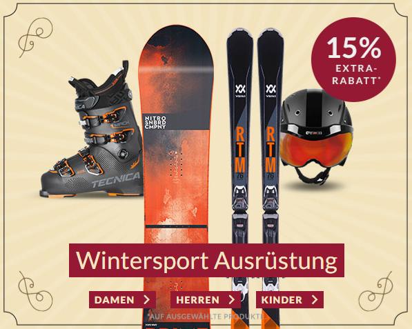 Engelhorn Sport Weekly-Deal mit 15% Rabatt auf ausgewählte Wintersport Ausrüstung