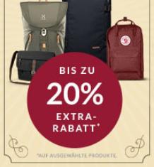 Engelhorn Sports Weekly Deal mit 20% Rabatt auf ausgewählte Taschen und Reisegepäck