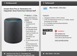 Blau Allnet L Sim-only Tarif mit Amazon Echo Plus (2. Generation) für nur 9,99 Euro mtl. + einmalig 4,95 Euro