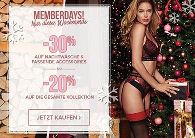 Hunkemöller: 20% auf die gesamte Kollektion & 30% Rabatt auf Nachtwäsche und Accessoires