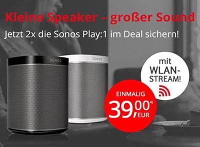 MD Vodafone Comfort Allnet Flat mit 4GB Daten für mtl. 19,99 Euro + Doppelpack Sonos Play:1 für nur einmalit 39,- Euro