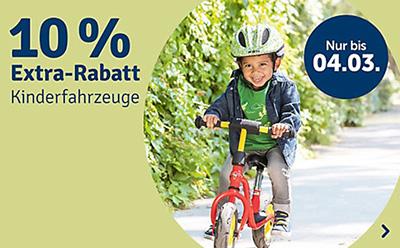 Nur noch heute: 10% Rabatt auf alle Kinderfahrzeuge im myToys Onlineshop