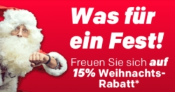 Christmas Sale bei Rakuten mit 15% Rabatt auf alle Artikel von hunderten Rakuten-Händlern