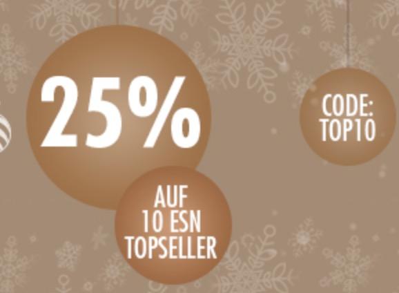 Letzter Tag: 25% auf 10 ESN Topseller bei Fitmart