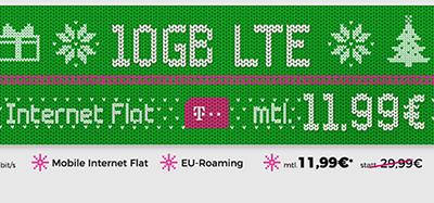 Datentarif-Knaller! Die Telekom Datenflat mit 10GB Daten für nur 11,99 Euro monatlich