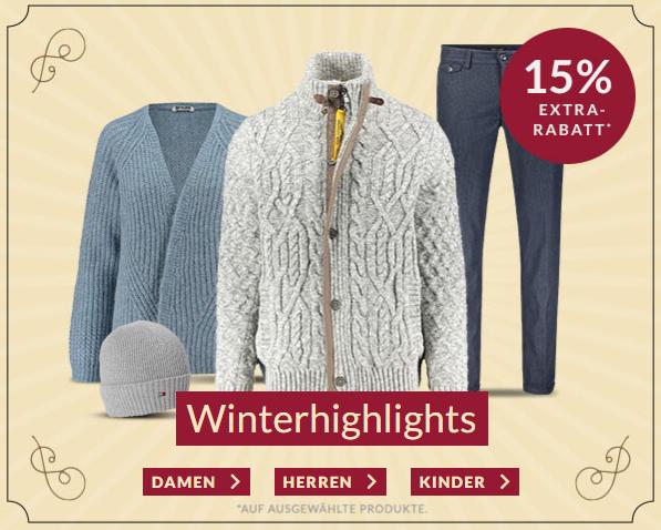 Bis Sonntag: Engelhorn Weekly-Deal mit 15% Rabatt auf ausgewählte Winterhighlights