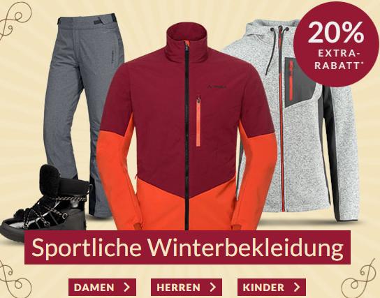 Engelhorn Sports Weekly Deal mit 20% Rabatt auf ausgewählte Wintersportkleidung