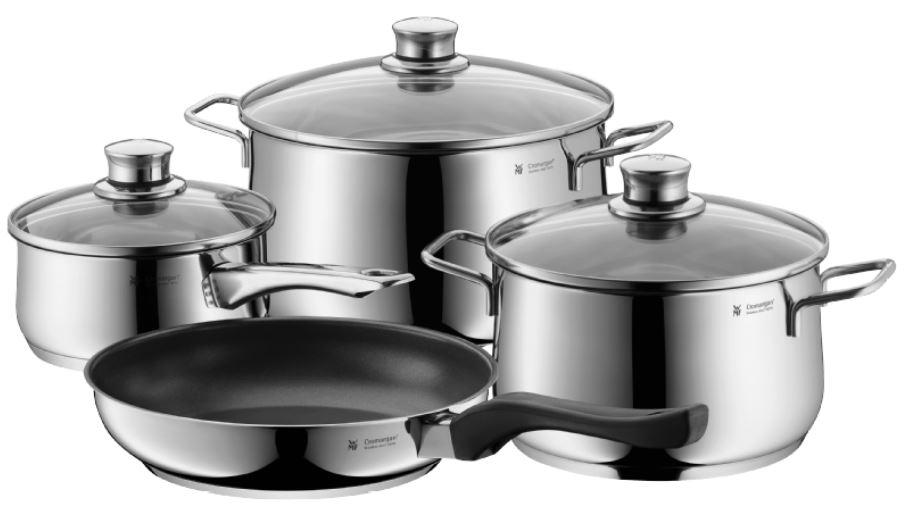 WMF Diadem Plus 4-tlg. Kochgeschirr-Set (Edelstahl) für nur 76,99 Euro inkl. Versand
