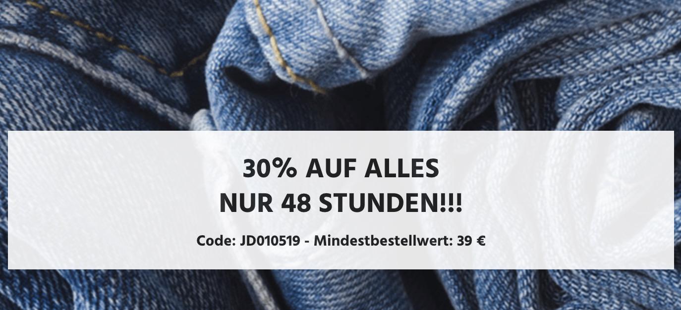 30% Gutscheincode auf Alles bei Jeans-Direct (39,- Euro Mindestbestellwert)