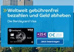 Kostenlose Visa Karte.Nur Noch Heute Dauerhaft Kostenlose Barclaycard Visa Karte Mit 25