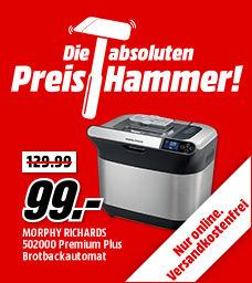 MORPHY RICHARDS 502000 Premium Plus Brotbackautomat für nur 99,- Euro (statt 128,- Euro)
