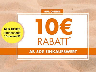 Nur heute: 10,- Euro Gutschein ab 50,- Euro Bestellwert bei Galeria Kaufhof