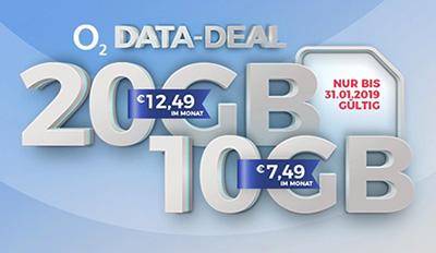 Verschiedene o2 my Data Tarife – z.B. my Data M mit 10GB für mtl. 19,99 Euro + 300,- Euro Auszahlung